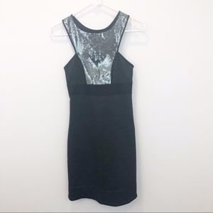 Chelsea and Violet sequin accent gray dress NWT